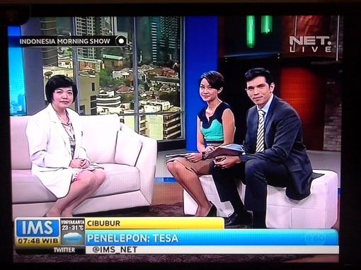 "Dr. Rose Setiawan, SpM., MSc sebagai narasumber topik ""GANGGUAN MATA PADA ANAK-ANAK"" pada program @Indonesia Morning Show NET.TV, 20 Februari 2014. Disiarkan langsung dari MNC Kuningan Jakarta"