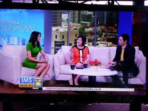 """Dr. Rose Setiawan, SpM., MSc sebagai narasumber """"DETEKSI BUTA WARNA"""" pada program @Indonesia Morning Show NET.TV, 16 September 2013. Disiarkan langsung dari MNC Kuningan Jakarta."""